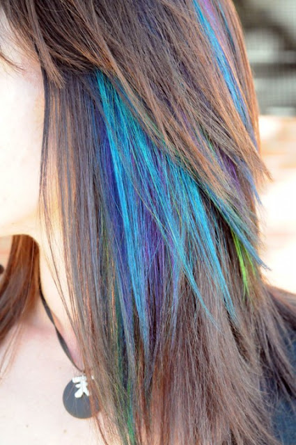 Craftionary - Peacock hairstyle color