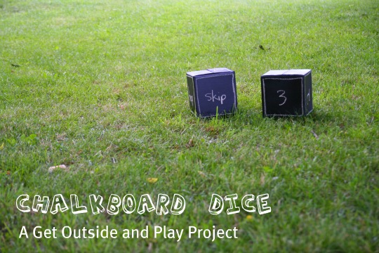 DIY chalkboard game