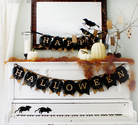 graphic relating to Happy Halloween Banner Printable named Craftionary