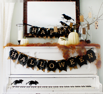 happy halloween free printable banner