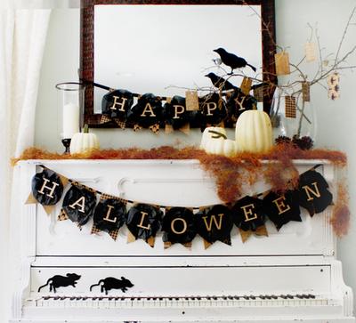 happy halloween free printable banner
