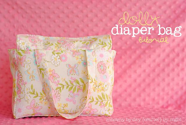 handmade pink diaper bag