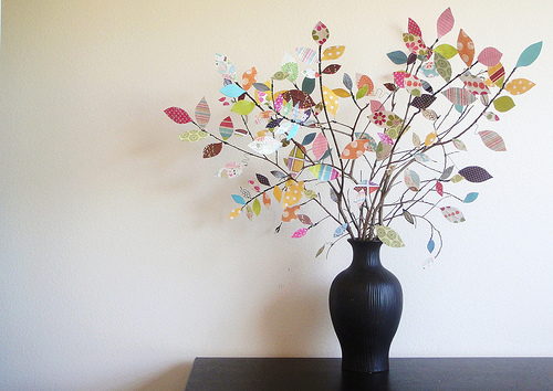 DIY leaf paper tree