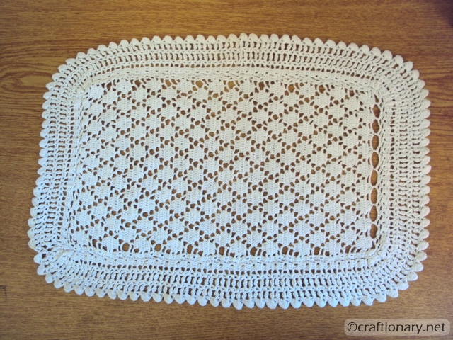 crochet mat decoupage tray mod podge