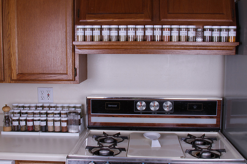 Genial How About Sticking Spice Containers On The Top Of The Stove! Kitchen  Storage Solution