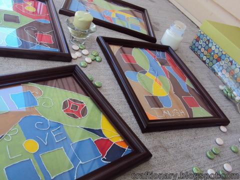 thread painted frames