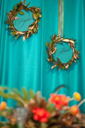 party leaf wreath