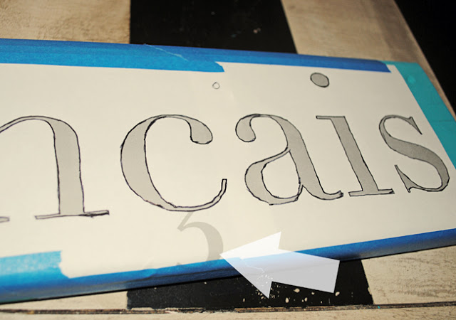 hand painted kitchen sign