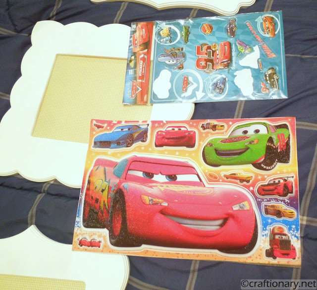 disney cars boys room frames