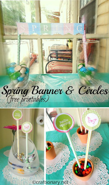 celebrating spring party circles