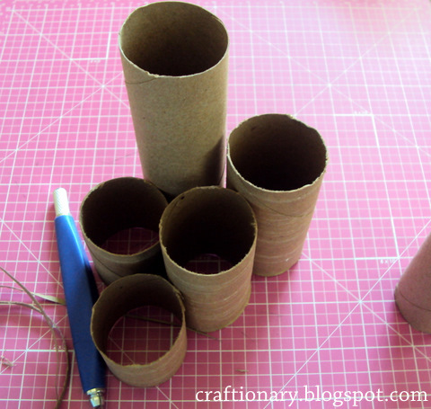 Craftionary for Recycling toilet paper tubes