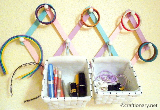 DIY organizer hanging easy