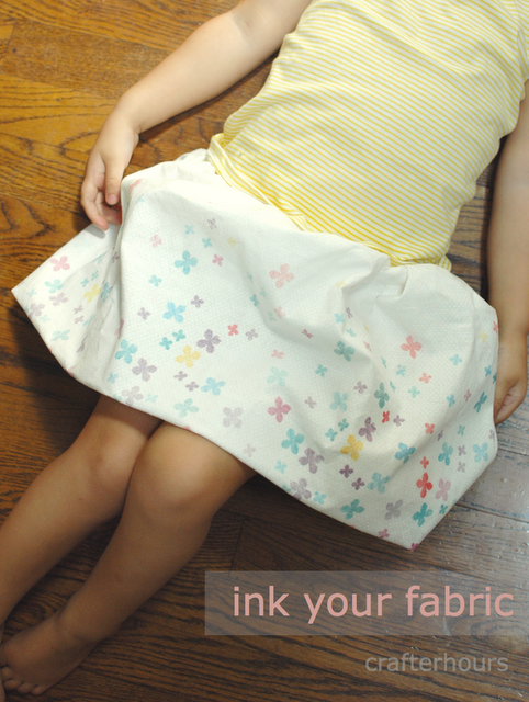 fabric painted kids skirt