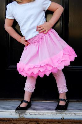 petals skirt tutorial
