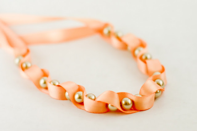 orange ribbon bracelet