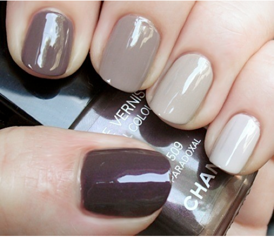 Ombre Nails Brown