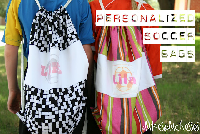 personalized soccer bags