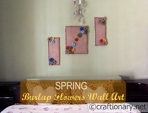 burlap home wall art tutorial