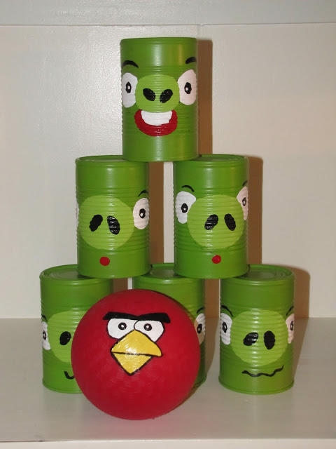 angry birds recycle tin cans game and tutorial