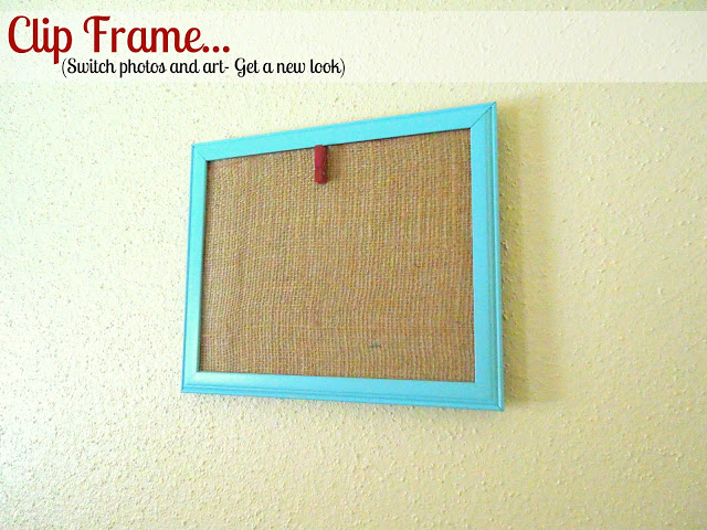 burlap display frame