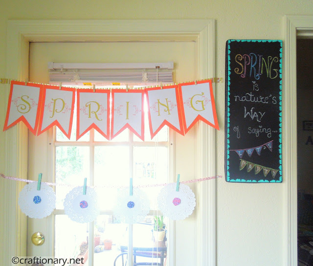 celebrating spring party decorations