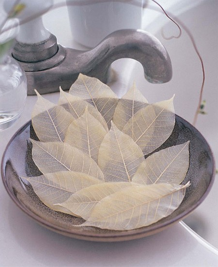 decorative leaf soaps