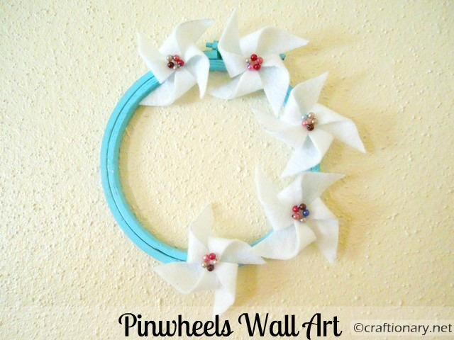 make felt pinwheels 2