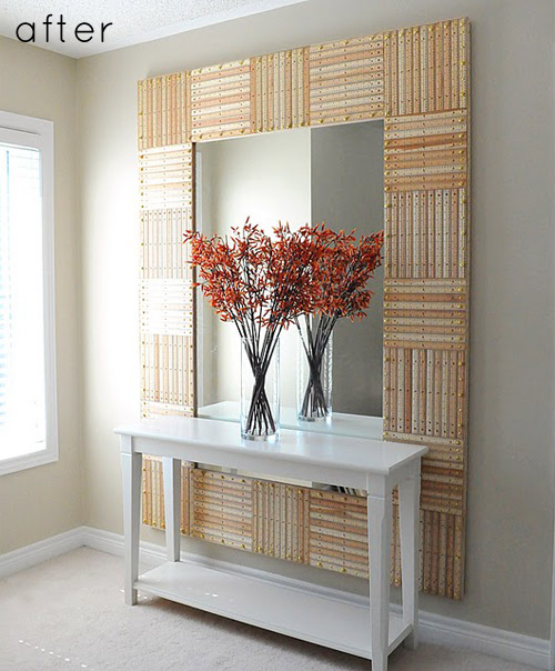 Craftionary for How to make a mirror wall