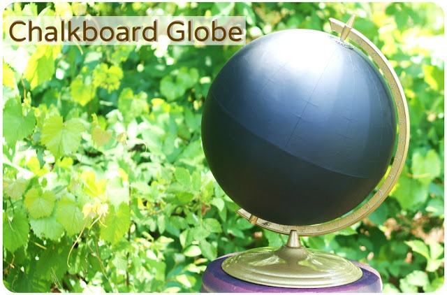 chalkboard globe tutorial