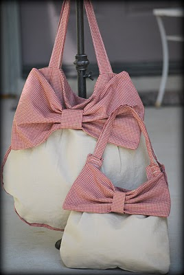 handmade bags with bows