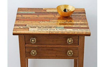 yardstick wooden table top side table