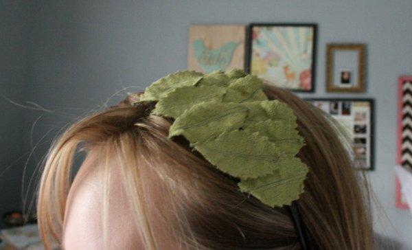 leaf felt headband