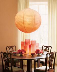 ombre paper lantern