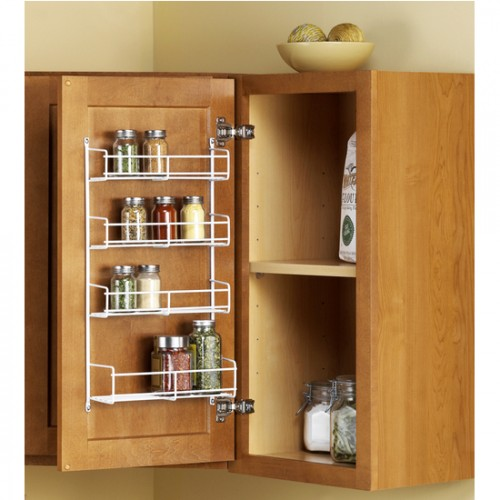This is a very well built spice rack and the spacing for mounting is just right for getting it mounted to studs. However, It is not quite deep enough to store spice cans in the most space-saving way.