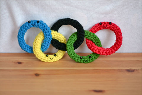 Olympics crochet rings