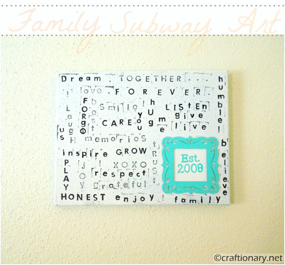 Family Rules Subway Art Canvas (Tutorial) - Craftionary