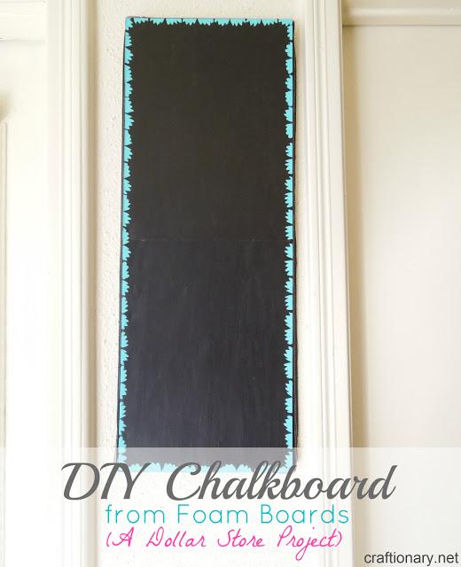DIY Foam chalkboard