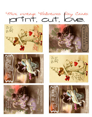graphic regarding Free Printable Vintage Valentine Cards named Craftionary