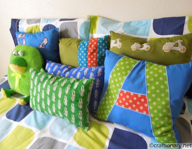 boy bedroom pillows