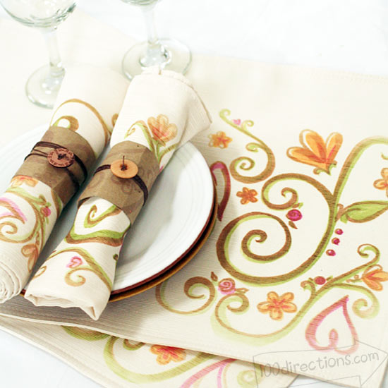 fabric painted placemat