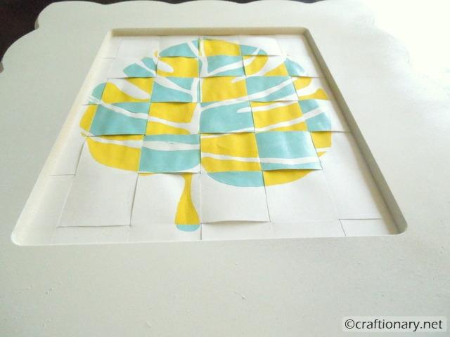 woven paper wall art decor