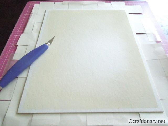 cut frame size paper
