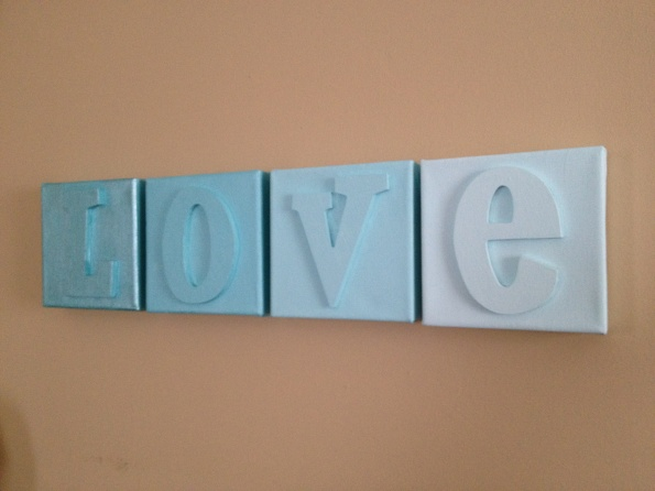 love ombre canvas art