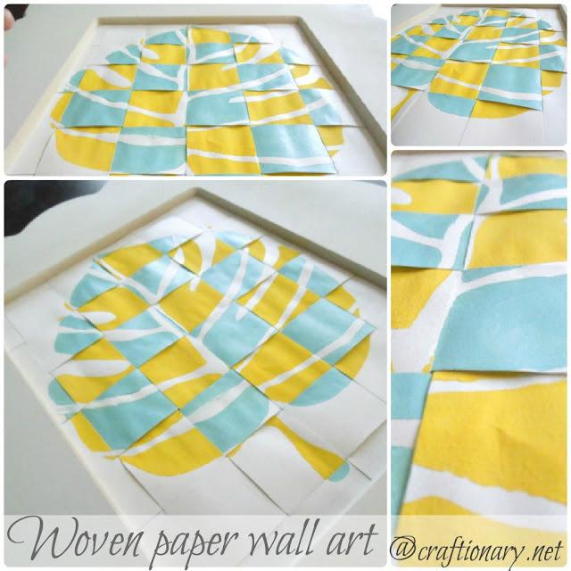 woven paper art