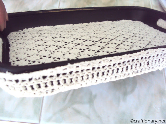 crochet tray