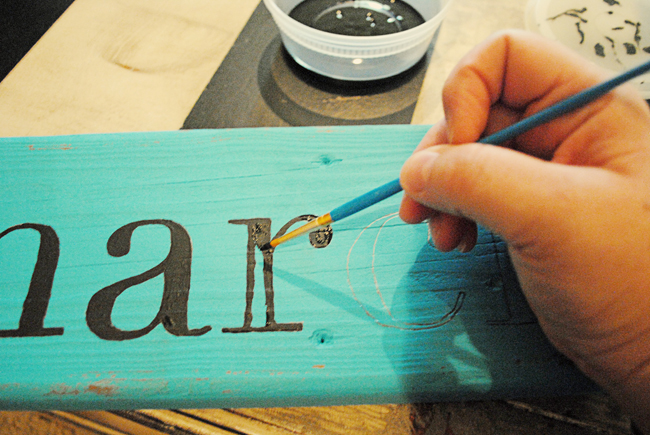 Diy Paint Letters On Wood