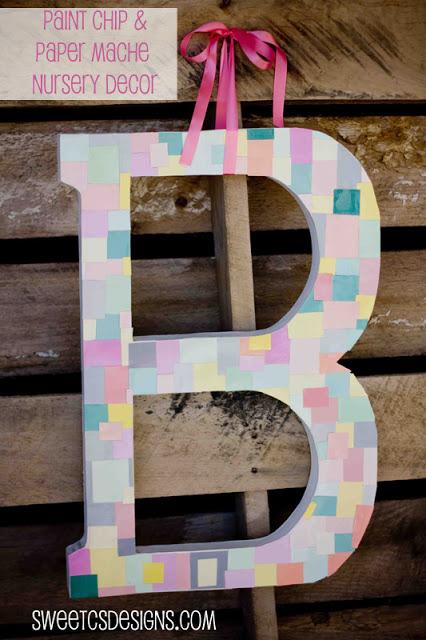 paint chip letters