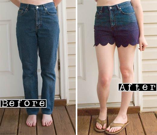 ombre ladies shorts