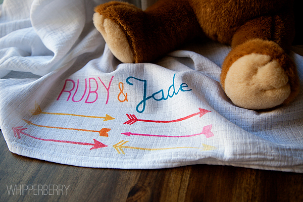 DIY painted baby blanket