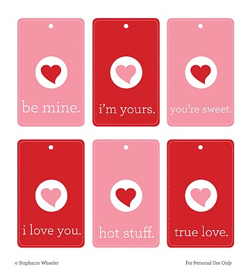 photograph about Printable Valentine Tag known as Craftionary